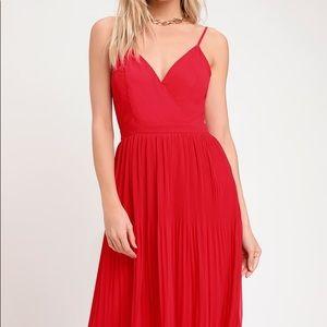 Lulus Red Midi Dress